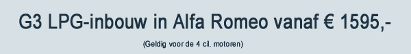 G3 LPG Inbouw Alfa Romeo