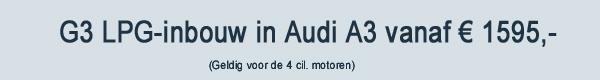 G3 LPG Inbouw Audi