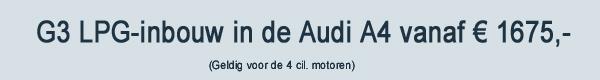 G3 LPG Inbouw Audi A4