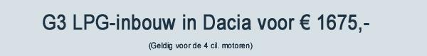G3 LPG Inbouw Dacia