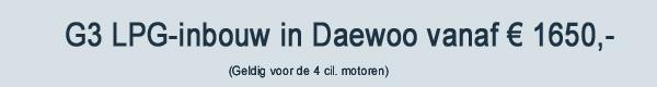 Daewoo LPG Inbouw G3