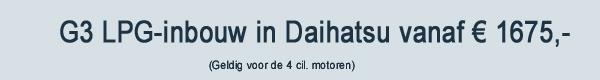 Daihatsu G3 LPG Inbouw