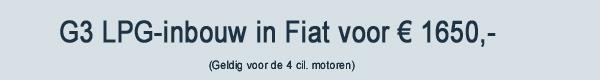 G3 LPG Inbouw Fiat