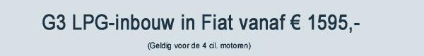 G3 LPG Inbouw in Fiat