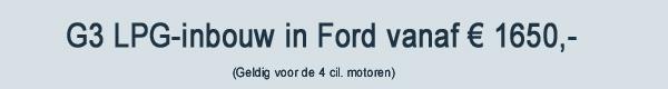 G3 LPG inbouw Ford