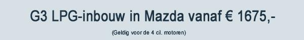 Mazda LPG G3 Inbouw