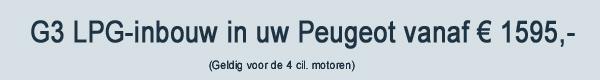 G3 LPG Inbouw Peugeot