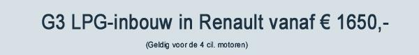 G3 LPG Inbouw Renault